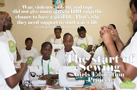 Girls Sewing education projet of hope for kids without hope foundation start because, War,violence, poverty and rape did not give many girls of DRcongo the chance to have a good life. That's why they need support tostart a new life.