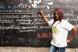 volontaire de la fondation Hope for kids without hope; Djani