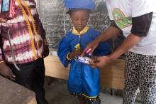 Les enfants de l'école maternelle de l'école primaire ''Benedictede la fontaine''