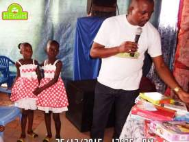 December event of Hope for kids without hope foundation in Kinshasa